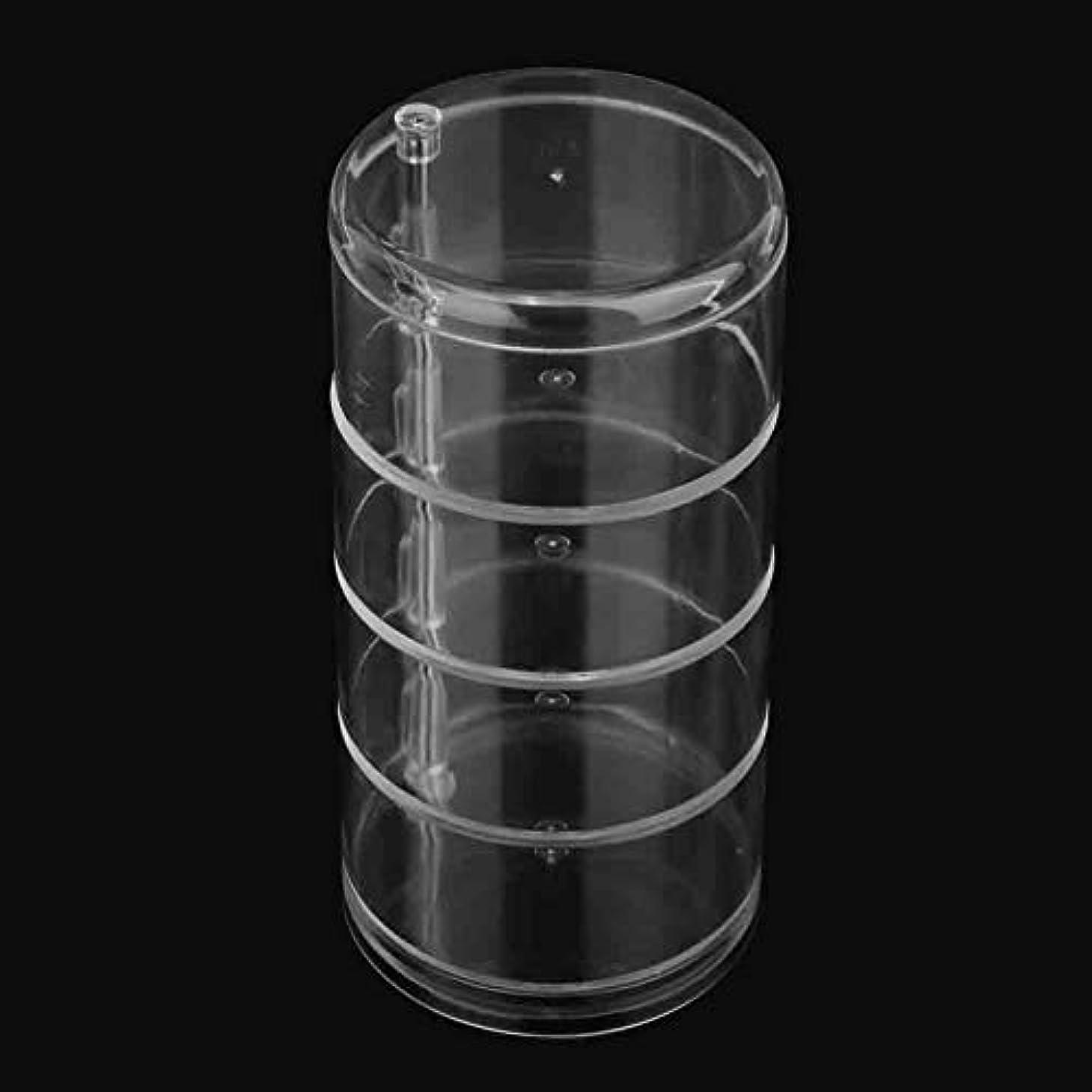ガイドライン確率ニコチン収納ケース4段アクリルクリア化粧収納ホルダーボックス