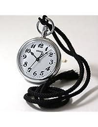 [セイコー](SEIKO)クォーツ 鉄道時計と正美堂オリジナル革ケース(ブラック) セット SVBR003-SP408F-BK