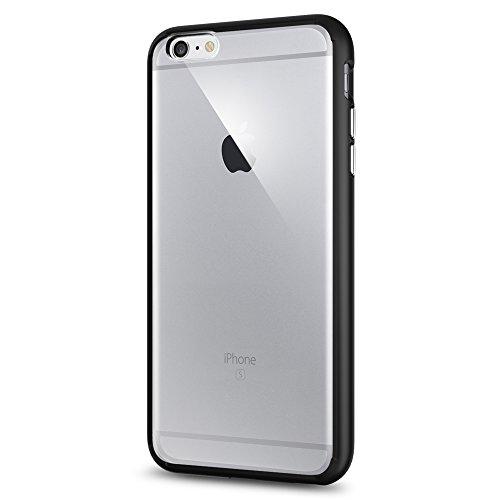 Spigen iPhone6s Plus ケース / iPhone6 Plus ケース, [ 背面 クリア ] ウルトラ・ハイブリッド アイフォン6s プラス / 6 プラス 用 米軍MIL規格取得 耐衝撃カバー (ブラック SGP11646)