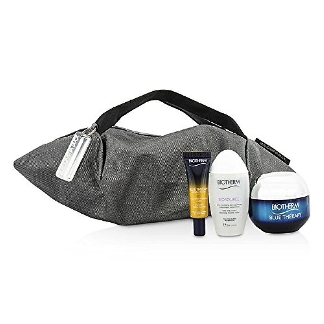 テスピアンリース傀儡ビオテルム Blue Therapy X Mandarina Duck Coffret: Cream SPF15 N/C 50ml + Serum-In-Oil 10ml + Cleansing Water 30ml + Handle Bag 3pcs+1bag並行輸入品