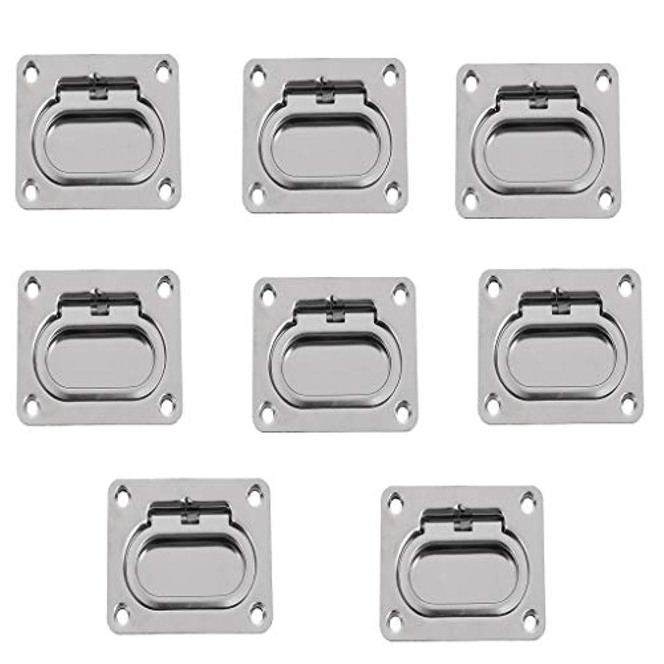 服を片付ける戸惑う増幅B Blesiya ステンレス リング ハンドル フラッシュハッチ ロッカー キャビネット ハードウェア 8個