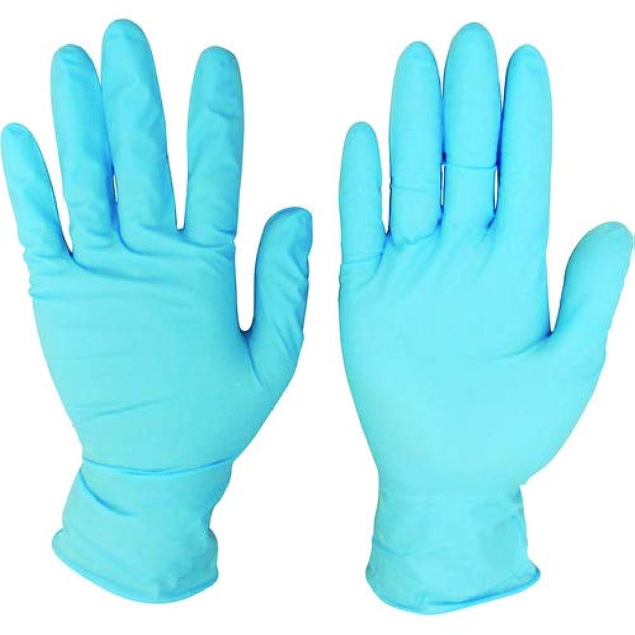 フレームワークめまいウェイトレスニトリルディスポ手袋 青 No.210 パウダーフリー(100枚入)M