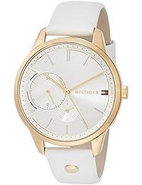 [トミーヒルフィガー]TOMMY HILFIGER 腕時計 BROOKE シルバー文字盤 ステンレススチール(ピンクゴールドコーティング) ホワイトレザー 38㎜ レディース 1782018 レディース 【並行輸入品】