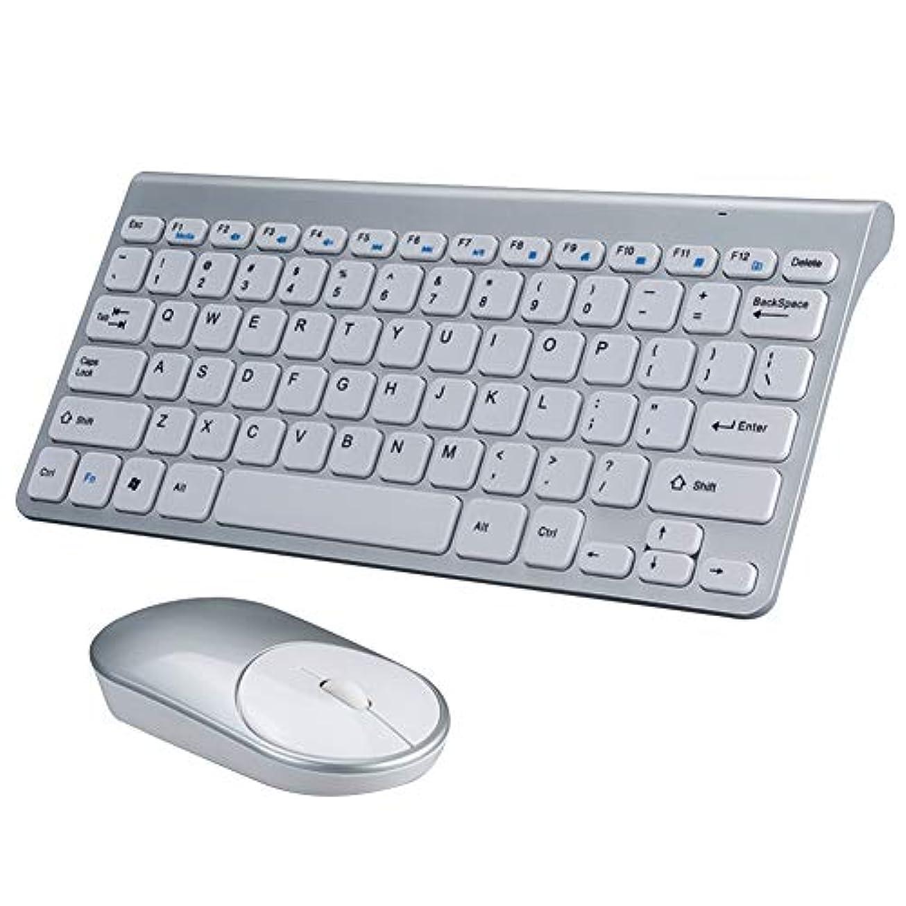 面白いマウントバンク慢なReccy ワイヤレスキーボード マウスセット USB充電式 コンパクト 軽量 超薄 小型 スリム 無線キーボード 静音マウス 持ち運び便利