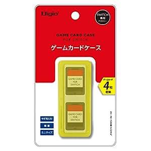 Nintendo Switch (ニンテンドースイッチ) 用 カードケース 4枚収納 イエロー Z1669