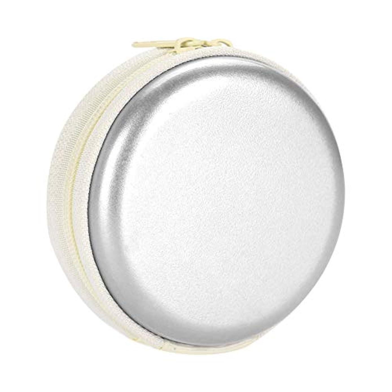 中絶ことわざ世紀エッセンシャルオイルキャリングケーストラベルキャリアコンテナコンパクト&ポータブルオイルバッグ保護外装ハードシェル付き外装ストレージ(Silver)