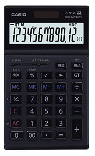 カシオ 実務電卓 12桁 JS-201SK-BK-N ブラック...