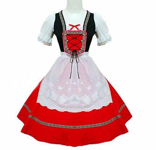 【cosstar】オクトーバーフェスト ビール祭り ドイツ メイド ドレス Cosplay 衣装 イベント 仮装 ハロウイン クリスマス コスチューム 文化祭 (S)