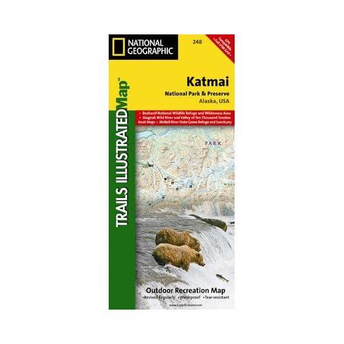 ナショナルジオグラフィックTI00000248カトマイ国立公園の地図保護区 - アラスカ州