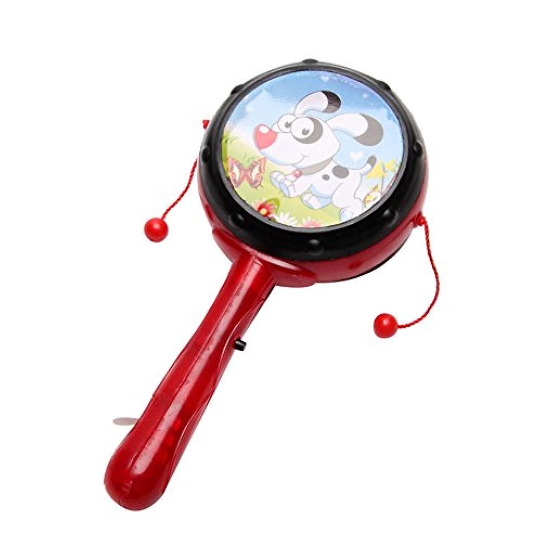 Nice Days(ナイス ディズ) 赤ちゃん玩具 ガラガラ led太鼓 音が出る玩具 ベビー 光る玩具