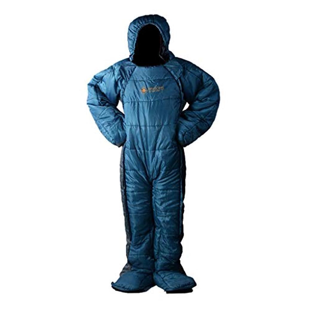 暴徒メディカル雄大なPerfeclan 寝袋 ウェアブルスリーピングバッグ アウトドア 旅行 ジッパー付き 大人 全身着用 3サイズ選べ