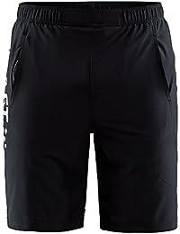 クラフト CRAFT メンズ トレーニング ショートパンツ Deft Stretch Shorts 1905969 999926 ブラックシルバー 【2018SS】【ytyt】
