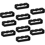 Replacement Fastener Rings for Garmin Fenix 5 and Fenix 5 Plus Bands(Pack of 10) Silicone Connector Security Loop Keepers Ring for Garmin Fenix 5 Smartwatch,Black
