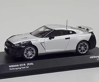ニッサン GT-R (R35) ニュルブルクリンクテストカー (ミニカー) 1/43日産GT-R(R35) ニュル・テストカー(シルバー) ミニチュアカー ミニカー 京商