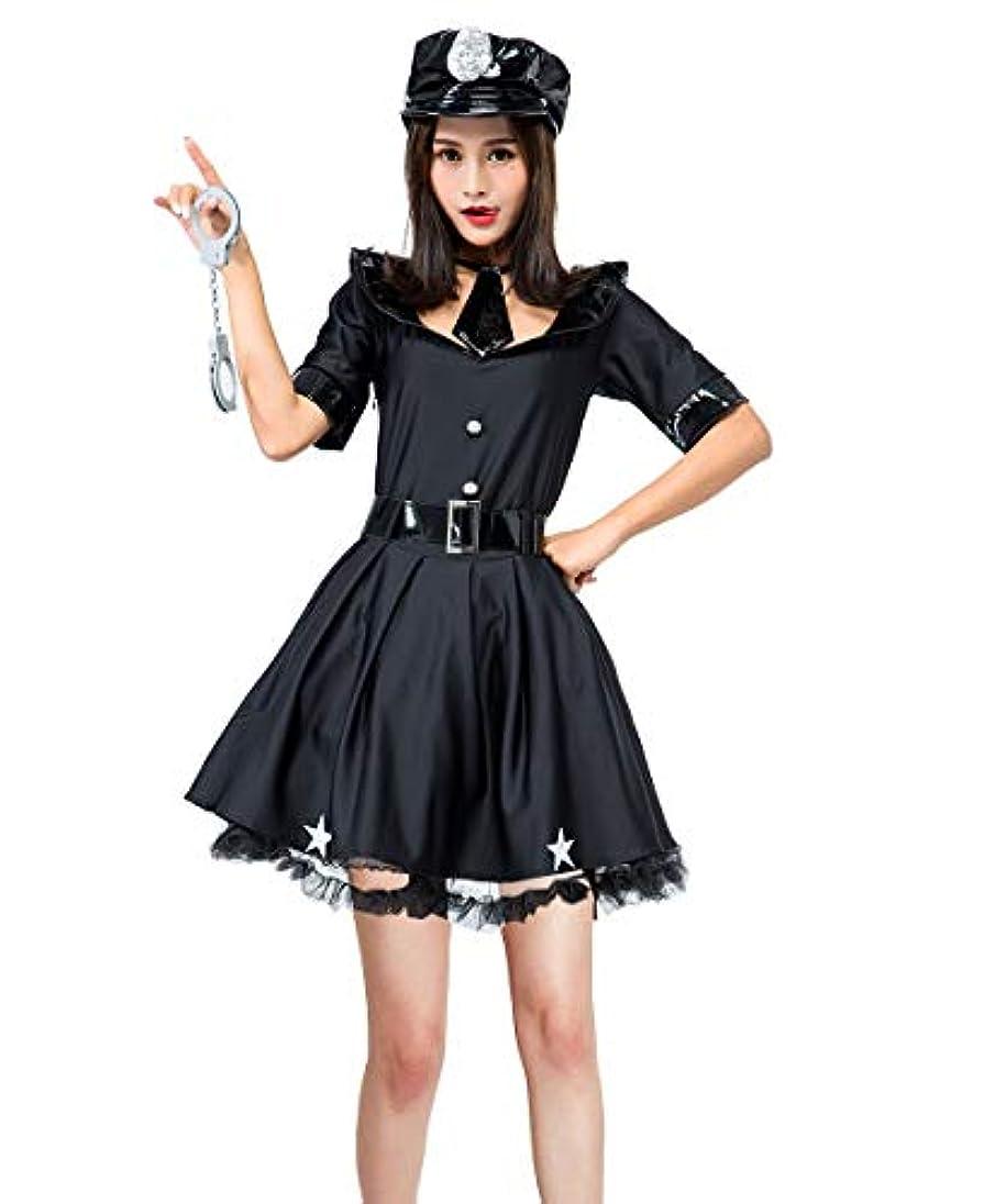 長くする活気づく一次ホッミコッゼ(Homeycozy) ハロウィン衣装 ハロウィーン仮装 ポリス 婦警 警察官 制服 コスプレ衣装 レディース コスチューム ドレス 帽子 ネクタイ ベルト 手錠 5点セット
