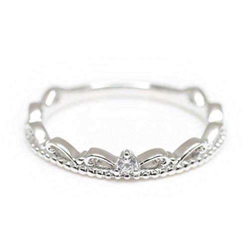 [해외][코코카루] cococaru 한알 다이아몬드 반지 실버 Silver925 반지 크라운 왕관 밀 치기 핑키 링 천연 다이아몬드 일제/[CocoCal] cococaru one grain diamond ring silver Silver 925 ring crown crown milting pin key ring rings natural diamond m...