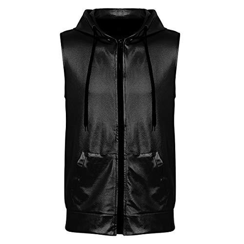 83f8efe04fc35 (フィーショー)FEESHOW メンズ Tシャツ タンクトップ フード付き カジュアル 男性 ボディービル