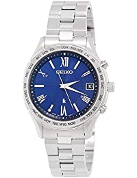 [ルキア]LUKIA 腕時計 LUKIA ソーラー電波 エターナルブルー限定 限定800本 ワールドタイム表記 プラチナダイヤシールド ダイヤ入り青文字盤 ペアモデル SSVH029 メンズ