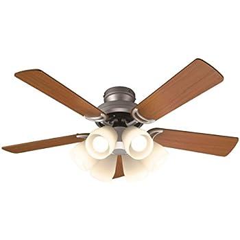 オーデリック LEDシーリングファン(LED電球一般形4.5W×6・電球色) 5枚羽根(リバーシブル) リモコン付き SH9071LDR W