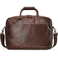 S-ZONE Genuine Leather Professional Look Briefcase Bag for 17 inch Laptop