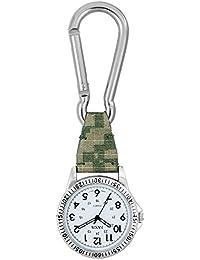 時計 カラビナ付き ポケットウォッチ 懐中時計 SCP37 (グリーン)