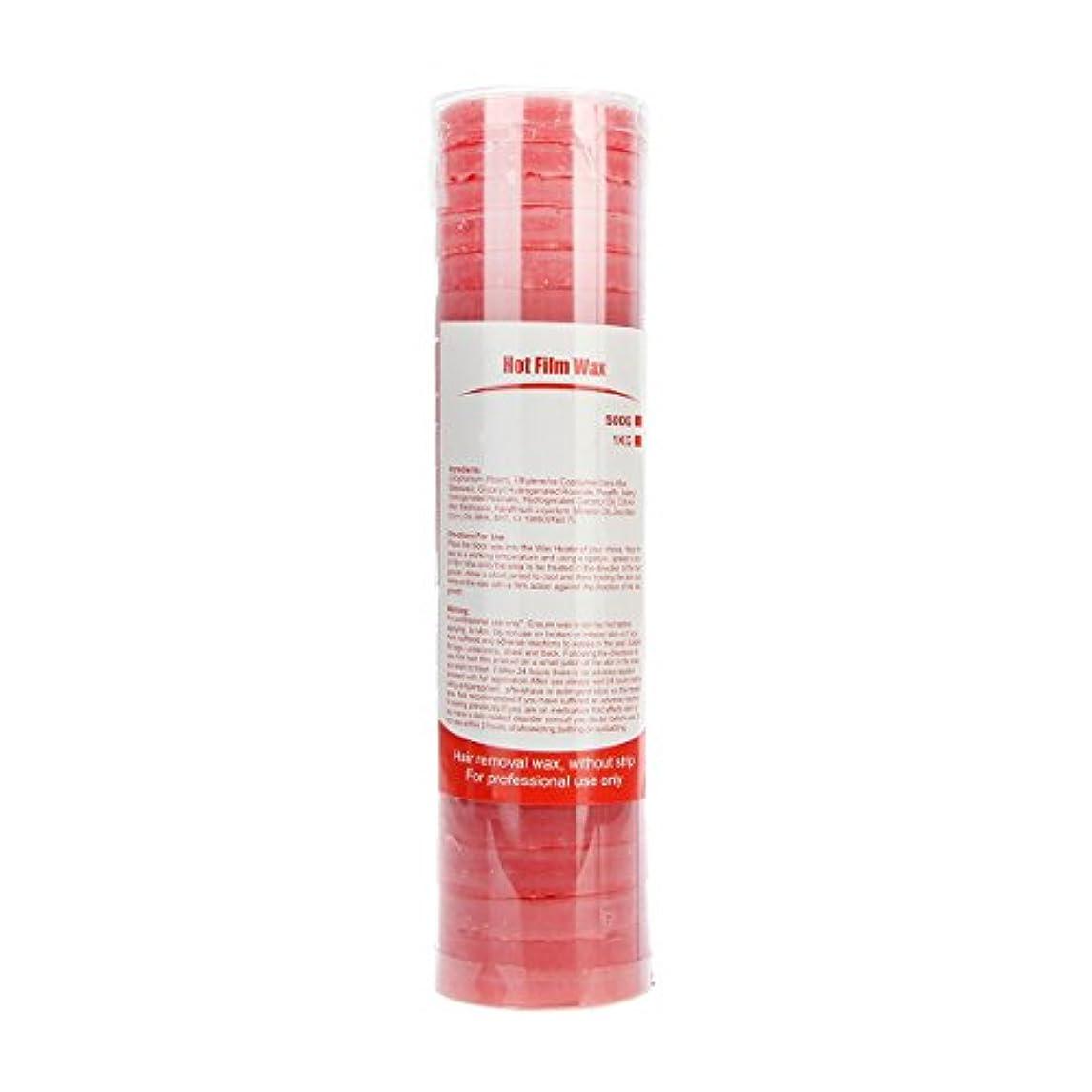 霧しばしば相手(アーニェメイ)Bonjanvy ハードワックス 脱毛 ビーズ 500g 1缶 ブラジリアンワックス 鼻毛 スティック 2本 セット-ローズ