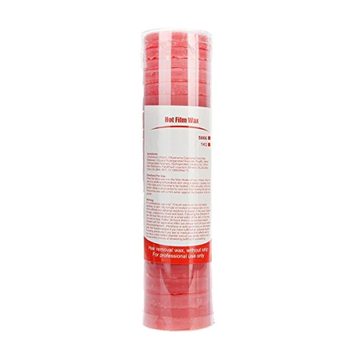 (アーニェメイ)Bonjanvy ハードワックス 脱毛 ビーズ 500g 1缶 ブラジリアンワックス 鼻毛 スティック 2本 セット-ローズ