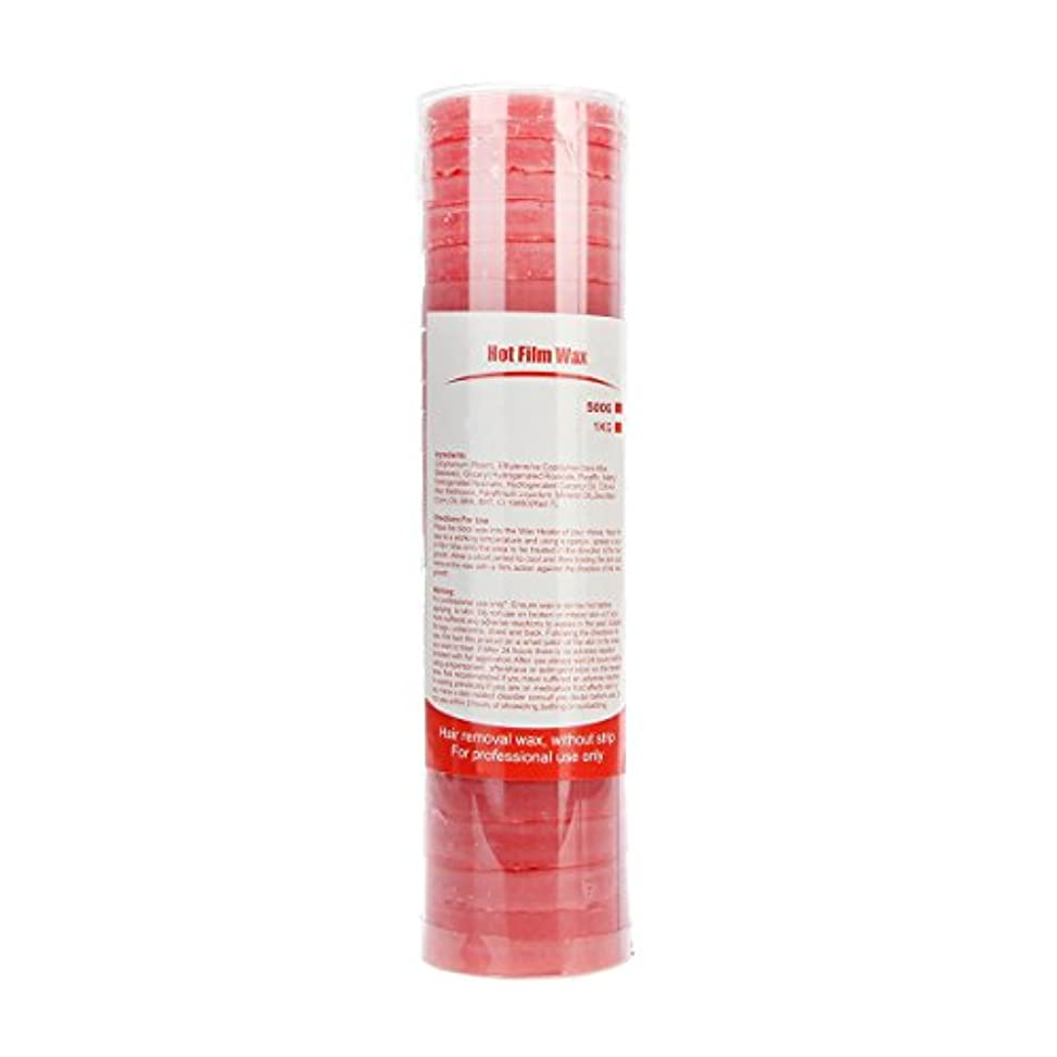 透ける干渉するサンダー(アーニェメイ)Bonjanvy ハードワックス 脱毛 ビーズ 500g 1缶 ブラジリアンワックス 鼻毛 スティック 2本 セット-ローズ