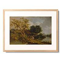 Kobell, Ferdinand,1740-1799 「Reiter auf einem Berg zwischen zwei Seen」 額装アート作品