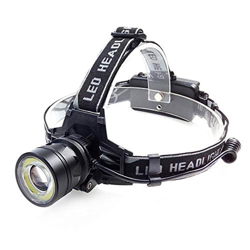モスク霧深い血まみれのハイキングキャンプブラックLEDヘッドライトに適した調整可能な多機能セーフティフラッシュ (色 : ブラック)