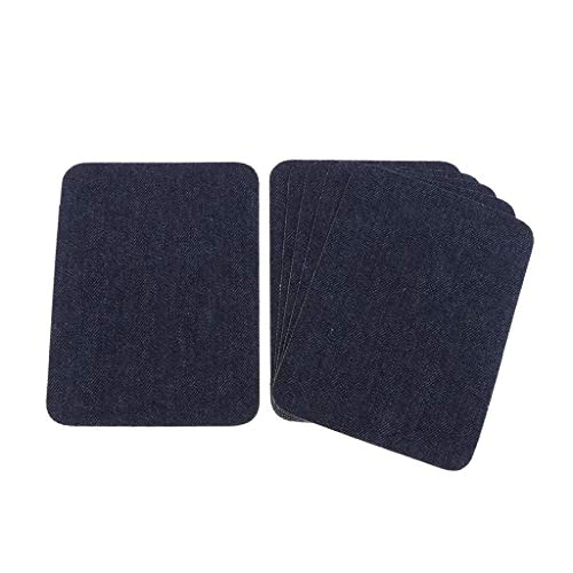 フェード立ち寄る懐疑論dailymall デニムパッチ 補修布 膝パッチ 肘パッチ ワッペン アップリケ 装飾材料 6個 全5カラー - 藍色