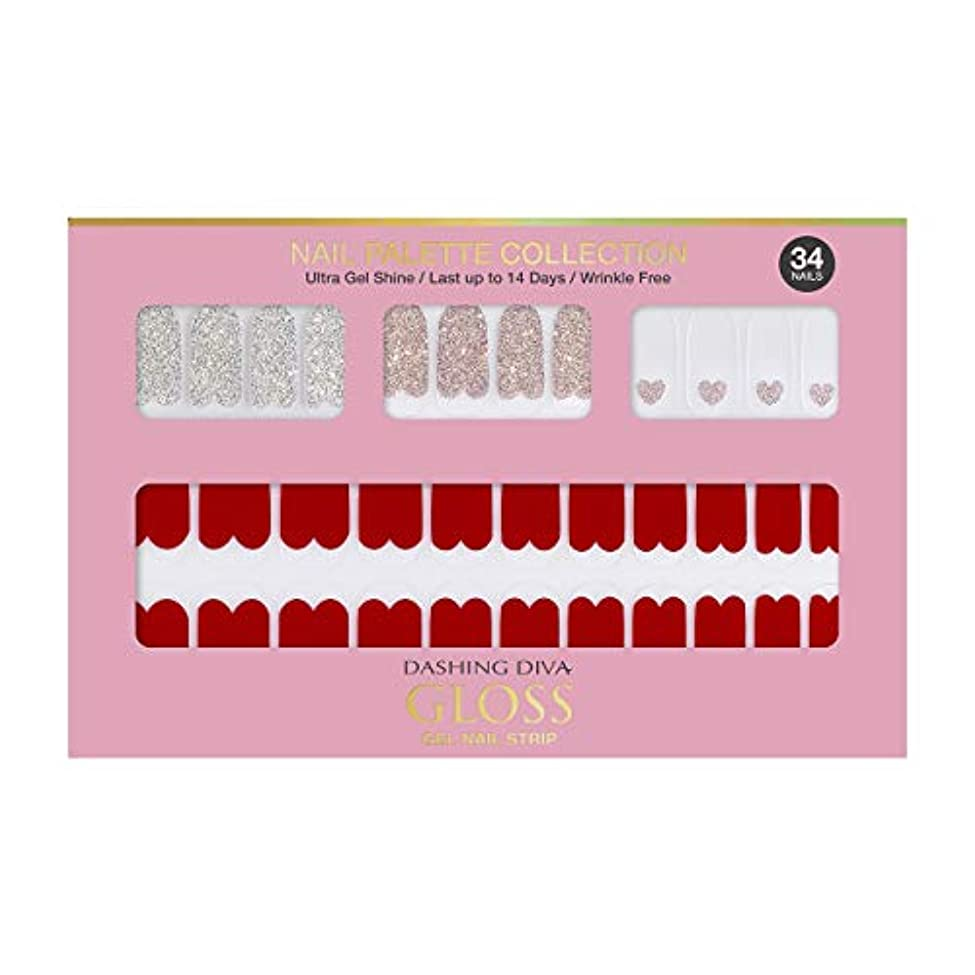 大西洋スピーチこどもの日ダッシングディバ グロスジェル ネイルストリップ DASHING DIVA Gloss Gel Nail Strip DGNP05-DURY+ オリジナルジェル ネイルシール Rosy #05 Red Shorts