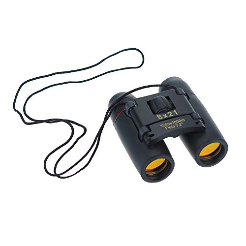 Qtuo 昼夜兼用双眼鏡 8× 21 小型軽量 アウトドア 旅行 スポーツ観戦 バードウォッチングに最適
