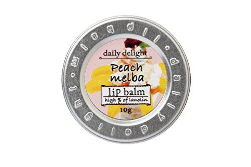 デイリーディライト リップバーム ピーチメルバ 10g(リップクリーム 缶入り 唇用保湿クリーム 桃のパフェの幸せな香り)