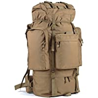 ALUA- Outdoor Waterproof Mountaineering Bag 100L Large Capacity Hiking Backpack, Sports Travel Hiking Men (Color : Camel)