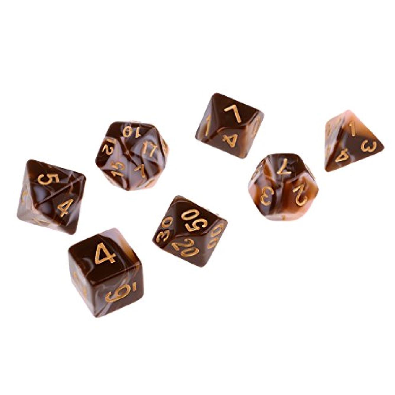 繊毛暗唱するコンソール7個 アクリル 多面体 ダイス サイコロ DND RPG MTGゲーム用 全4選択 - C