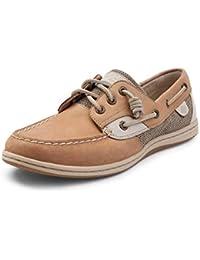 (スペリートップサイダー) SPERRY TOPSIDER 靴?シューズ レディースサンダル Womens Sperry Top-Sider Songfish Boat Shoe Linen/Oat Linen/Oat...