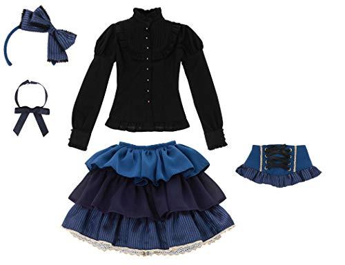 48cm/50cm用 AZO2 サアラズ ア・ラ・モード twinkle☆twinkle ドレスセット ブルー×ブラック (ドール用)