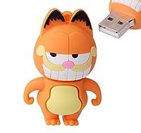 LHN 32GB Standing Cat USB 2.0フラッシュドライブ(オレンジ)