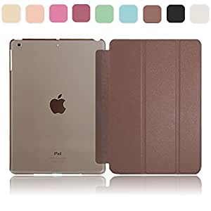 MS factory iPad mini 3 2 Retina カバー ケース パールファイバー PU レザー mini2 mini3 スマートカバー バックケース 手帳型 PUレザー 全8色 チョコレート ブラウン mR-pearl-BR