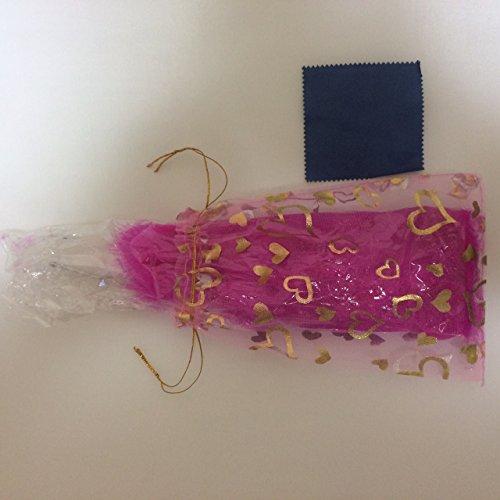 ゴージャースジュリアナ羽扇子 結婚式 パーティー 誕生日 ハートの扇子袋付き! 濃ピンク
