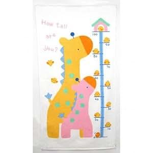 オリム 身長計つきバスタオル きりんの親子 約70×130cm
