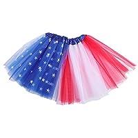 LUOEM キッズチュチュスカートアメリカンフットチュチュ7月4日独立記念パーティードレス