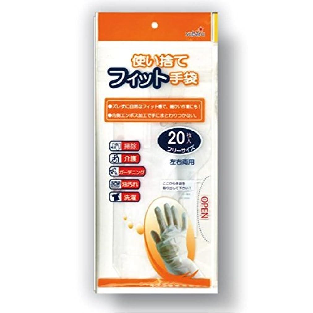 退屈クリップ蝶アプト使い捨てフィット手袋フリーサイズ20枚入[12個セット] 227-19