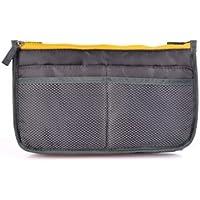 多機能 便利 バッグインバッグ システムバッグ インナーバッグ 選べるカラー (スレートグレイ)
