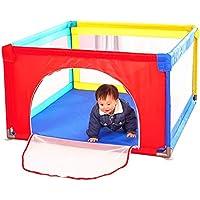 赤ちゃんの生地Playenpenフロアマット、折り畳み式ポータブルルームデバイダ子供の子供の障壁ドア/ジッパー付き (サイズ さいず : 100 * 100 * 70cm)