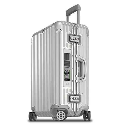 (リモワ) RIMOWA スーツケース キャリーバッグ TOPAS トパーズ ELECTRONIC TAG 924.63.00.5 [TSAロック 日本語取扱説明書 1年保証 付き] (67L(シルバー))