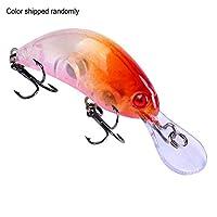 小型の釣り道具3.8g / 5.5cmのクランクベイトの偽の堅い餌のルアー - ランダムな色