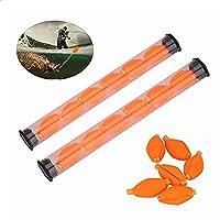 12個 釣り用フロート フォーム 釣り浮き 淡水 塩水 フィッシング フロート オレンジ イエロー
