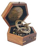 新しい骨董品店 - ギフトボックスのサンダイヤル時計のナビゲーションで手作りの日時計コンパス